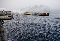 USS Roosevelt (DDG-80) launches Mk 54 torpedo in April 2014.JPG