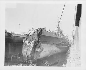 USS Washington damage after collision NARA BS 109965.tif