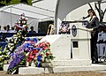 US Navy 050711-N-3207B-062 Hawaii Governor Linda Lingle speaks during a memorial service for five Sailors assigned to SEAL Delivery Vehicle Team One (SDVT-1).jpg