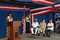 US Navy 071002-N-8704K-062 (From left) Ambassador Lisa Bobbie Schreiber Hughes, U.S. Ambassador to Suriname, speaks during an opening ceremony marking hospital ship USNS Comfort's (T-AH 20) arrival to Suriname.jpg