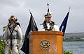 US Navy 080723-N-0879R-002 Cmdr. Daniel M. Colman, commanding officer of the Pearl Harbor-based Mobile Diving and Salvage Unit One (MDSU) 1, address attendees during a change of command ceremony.jpg