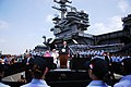 US Navy 090514-N-5684M-832 Vice President Joe Biden speaks to Sailors on the pier in front of USS Ronald Reagan (CVN 76).jpg