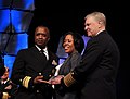 US Navy 110218-N-ZB612-035 Chief of Naval Operations (CNO) Adm. Gary Roughead presents Rear Adm. Arthur J. Johnson, commander of the Naval Safety C.jpg