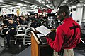 US Navy 110710-N-UO379-183 Cmdr. Darrel Wesley, from Chattanooga, Tenn., command chaplain aboard the aircraft carrier USS Ronald Reagan (CVN 76), l.jpg