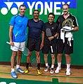 US Senior International Badminton Tourney (Miami) - MD50 Bronze Medal Match - Colin & Pedro def Jose & Soni 15 & 18 (16648799422).jpg
