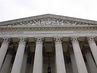 """The words inscribed above the entrance to the U.S. Supreme Court are: """"Equal justice under law"""""""