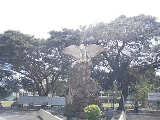 University of Southeastern Philippines - Entrance to USeP Obrero Main Campus with the University Eagle on the background.