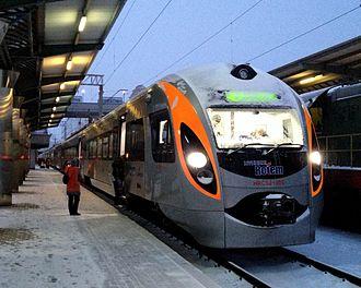 Ukrainian Railways - Image: Ukraine Hyundai train