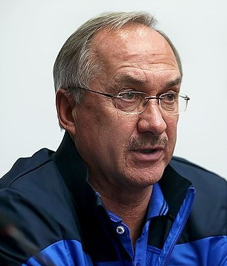 Uli Stielike - Uli Stielike in a press conference before friendly with Iran in 2014