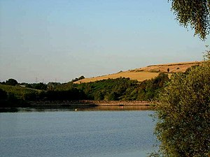 Rotherham - Ulley reservoir between Ulley and Aughton is in the south of the district.