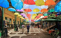 Umbrellas at Caudan Waterfront Mall.JPG
