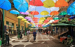 Umbrellas at Caudan Waterfront Mall