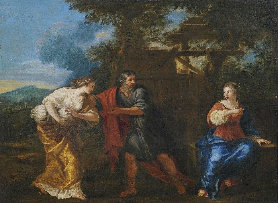 Umkreis Jacob van Oost d J Lot und seine Töchter