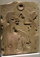 """Blocked-out"" unfinished low relief of Ahkenaten and Nefertiti; unfinished Greek and Persian high-reliefs show the same method of beginning a work."