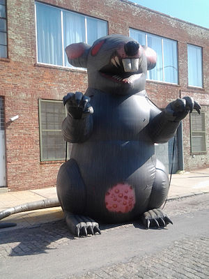 Inflatable rat - Another example, in Long Island City.
