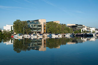 University of Lincoln - Looking towards the University of Lincoln across the Brayford Pool