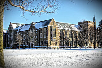 Notre Dame Law School - Biolchini Hall in winter