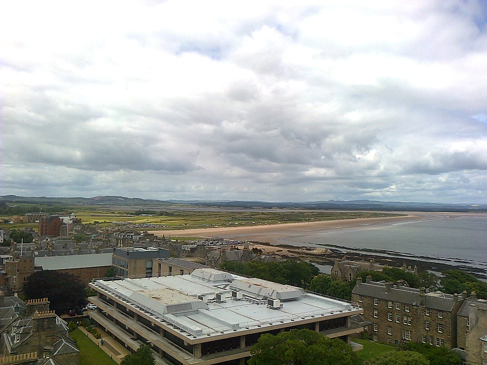 University of St Andrews library from above