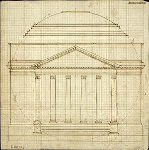 The Rotunda (University of Virginia) - 1819 draft of the Rotunda