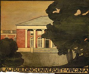 O'Keeffe at the University of Virginia, 1912–1914 - Untitled, Law Building, 1912–1914, Georgia O'Keeffe Museum