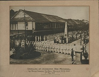 Neill Malcolm - Unveiling of Jesselton War Memorial, by Major-General Sir Neill Malcolm, K.C.B., D.S.O. 8th May. 1923.