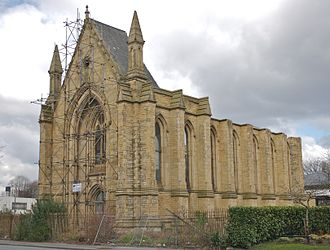 Upper Brook Street Chapel, Manchester - The chapel without its roof in 2008