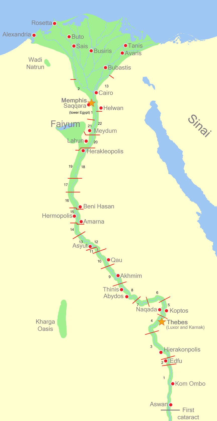 Upper Egypt Nomes