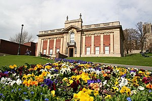 English: Usher Gallery and Spring Flowers The ...