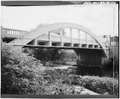 VIEW OF NORTH TRUSS, LOOKING SOUTHWEST - Spring Street Bridge, Spanning Duncan Creek, Chippewa Falls, Chippewa County, WI HAER WIS,9-CHIFA,2-3.tif
