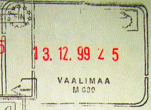 Vaalimaa - Old style passport stamp from the border checkpoint
