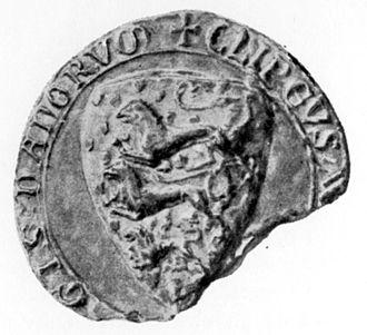 Danish Census Book - The Seal of King Valdemar II