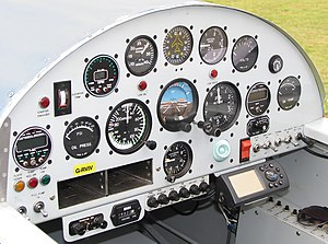 Van's Aircraft RV-4 - Cockpit of an RV-4 in 2006.