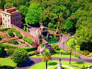 Mater Ecclesiae Monastery (Vatican City) - The gardens next to the monastery