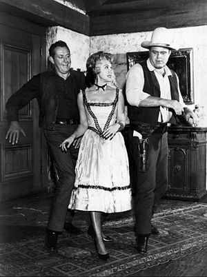 Dan Blocker - Vaughn Monroe, Susie Scott, and Dan Blocker dance in Bonanza (1962)