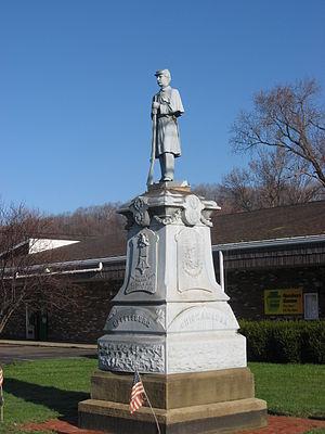 Darlington, Pennsylvania - Veterans Memorial in central Darlington
