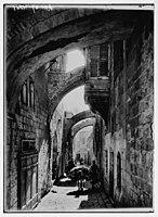 Via Dolorosa. Fifth Station of the Cross. LOC matpc.05386.jpg