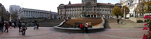 Victoria Square, Birmingham - A panorama showing Victoria Square in October 2009