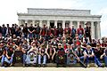 Vietnam veterans pose for a group photo at the Lincoln Memorial, 2011.jpg