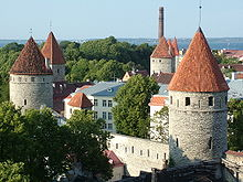 Tallinn old town, the city wall.