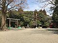 View in front of grand torii of Miyazaki Shrine.jpg