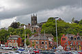 View of Macclesfield from Macclesfield train station 2014.jpg