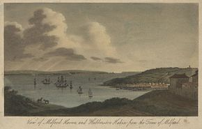 View of Milford Haven, and Huberston Hakin, from the town of Milford