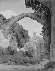 View of a Ruined English Abbey