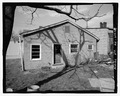 View of rear (south) wall, looking slightly northeast. - Ed Robinson House, 214 Oregon Street, Georgetown, Scott County, KY HABS KY-216-2.tif