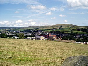 Whitworth, Lancashire - Image: View over Whitworth to Brown Wardle Hill