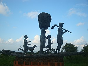 Visitor attractions in Thrissur - An artistic work from Vilangan Hills