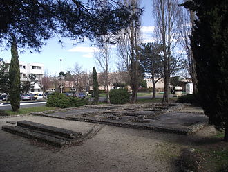 Tarbes - Foundations of an old villa in the Ormeau quarter