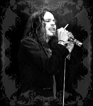 HIM (Finnish band) - Ville Valo performing with HIM in Norfolk, Virginia, in August 2004