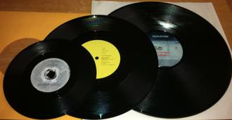 Dubplate - Dubplates of the three main sizes