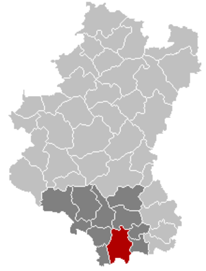 Virton - Image: Virton Luxembourg Belgium Map